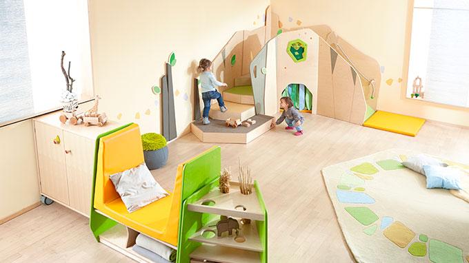 Ensemble concevons des espaces propices a bien grandir - Micro-crèches - Haba PRO